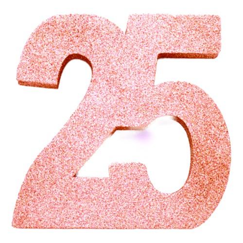 Bordsdekoration Siffra Roséguld - Siffra 25