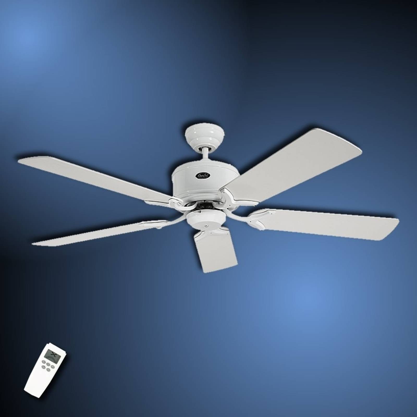 Pelkistetty Eco Elements -kattotuuletin valkoharm.