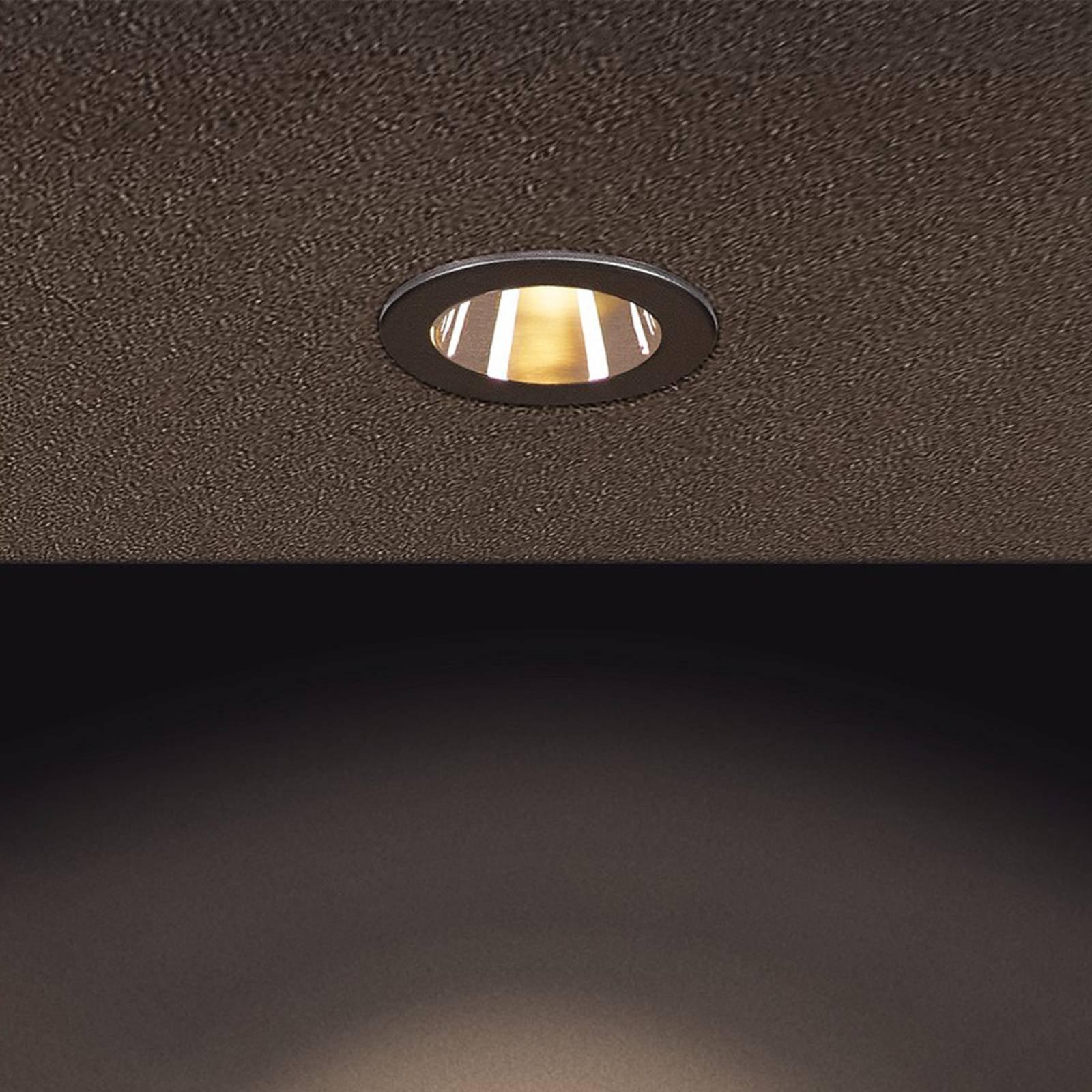 SLV H-Light 3 LED-innfellingslampe, matt svart