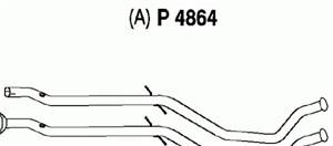 Pakoputki, Keskellä, PEUGEOT 407, 407 SW, (1706-C3)
