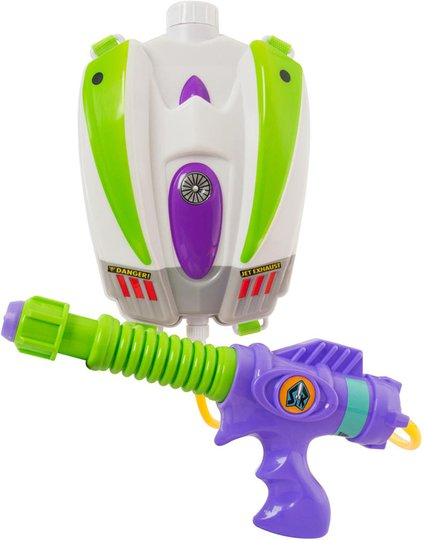 Toy Story Buzz Vannpistol med Tank på Ryggen