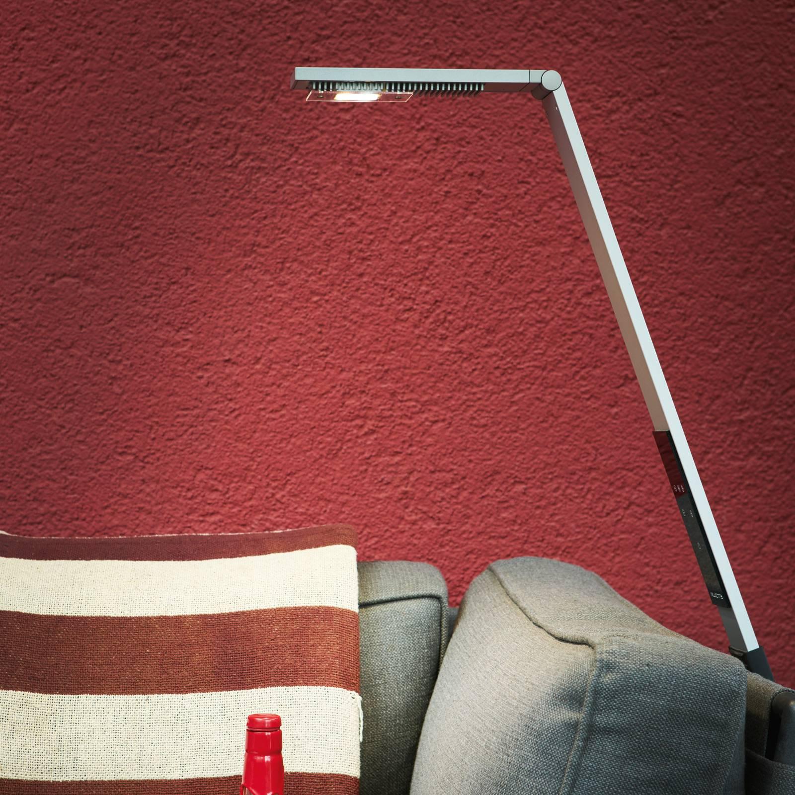 Luctra Flex -LED-lattiavalo, akku, alumiini