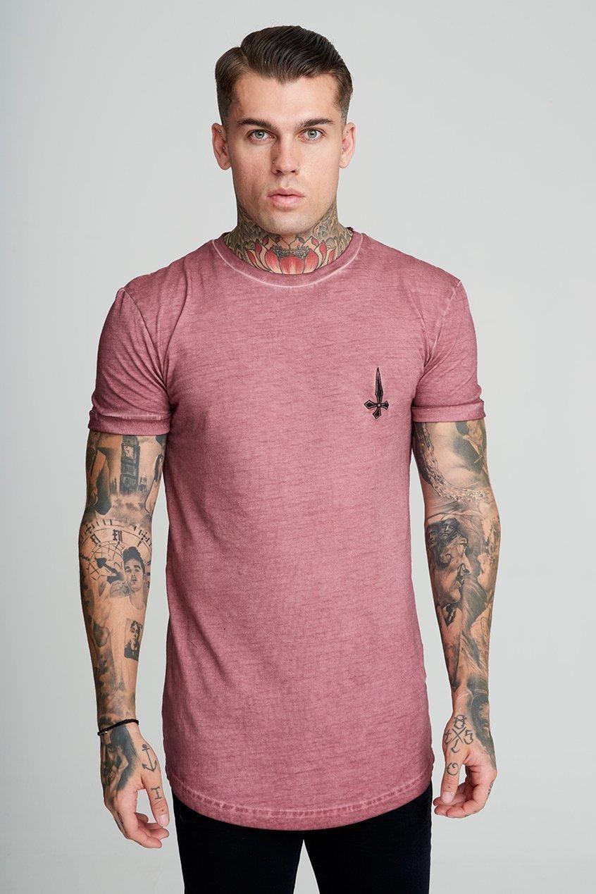 Oil Dye Brand Carrier Men's T-Shirt - Plum, Small