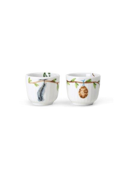 Kähler - Hammershøi Poppy Egg Cup Set Of 2 - White With Deko (693252)