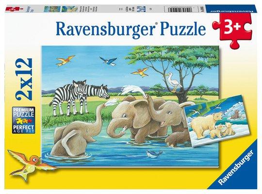 Ravensburger Puslespill Baby Safaridyr 2x12 Biter
