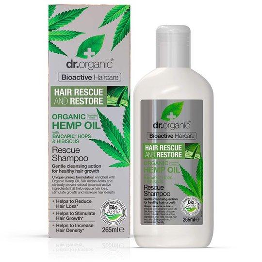 Dr. Organic Hemp Oil Rescue Shampoo, 265 ml