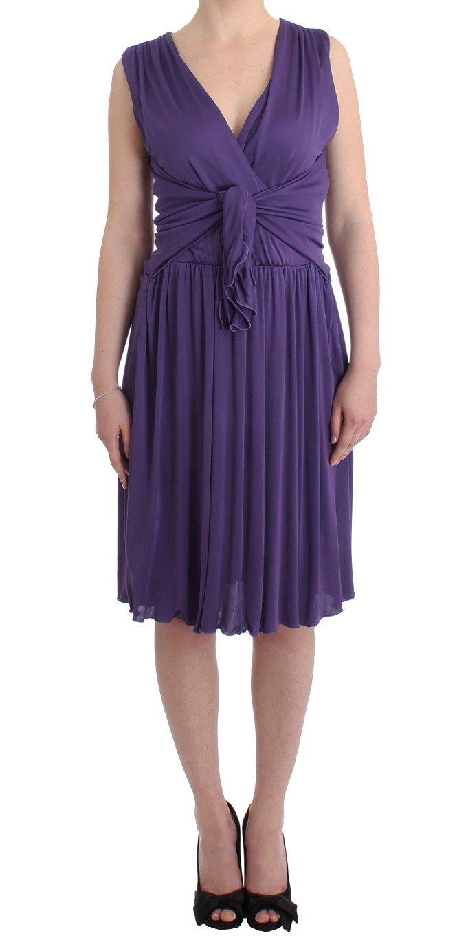 John Galliano Women's Sheath Dress Purple SIG11569 - IT42|M
