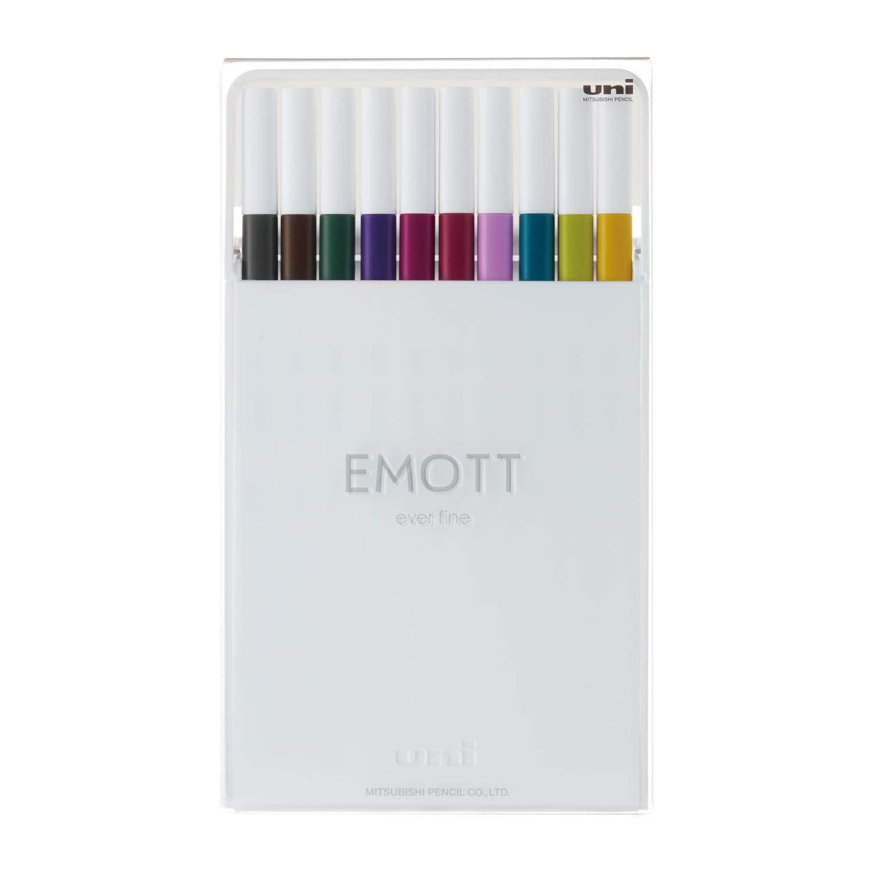Uni - Emott Fineliner - 10 Assorted, No. 3