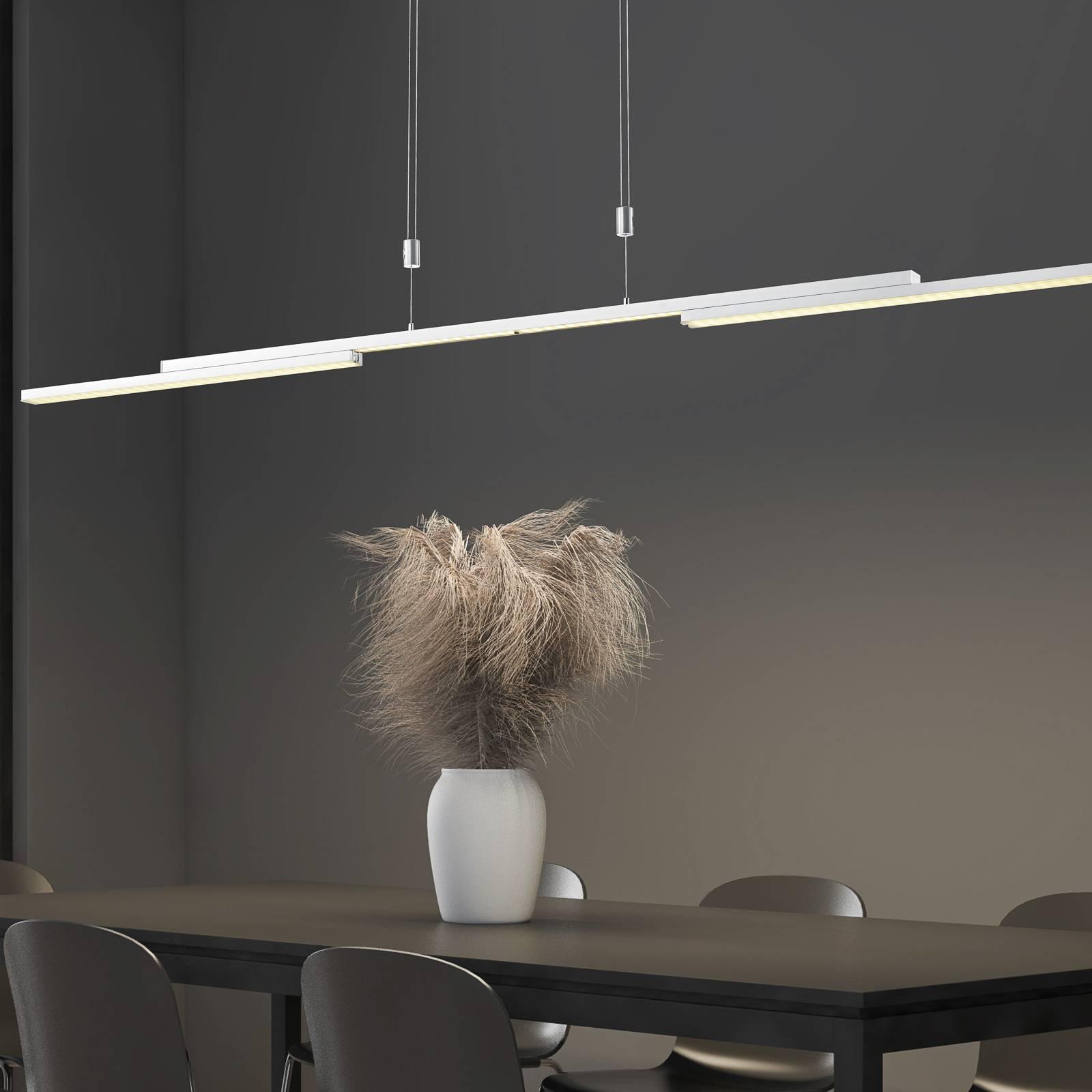 B-Leuchten Expanda-X LED-riippuvalaisin, nikkeli