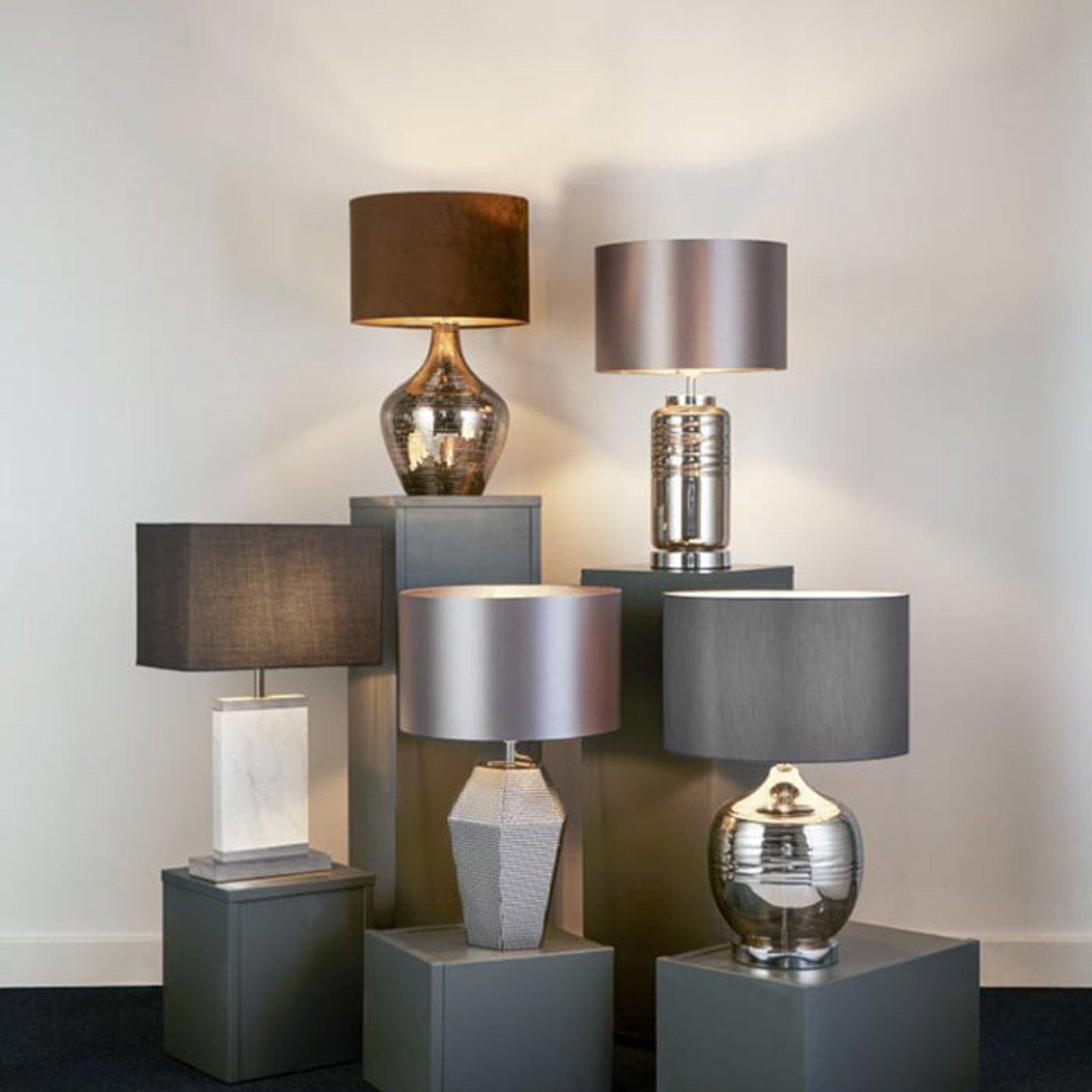 Bordlampe Polygon med glassfot