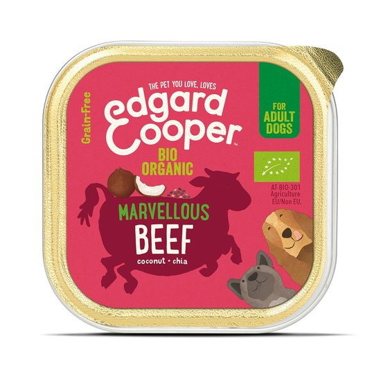 Edgard & Cooper Dog Ekologiskt Nötkött 100 g