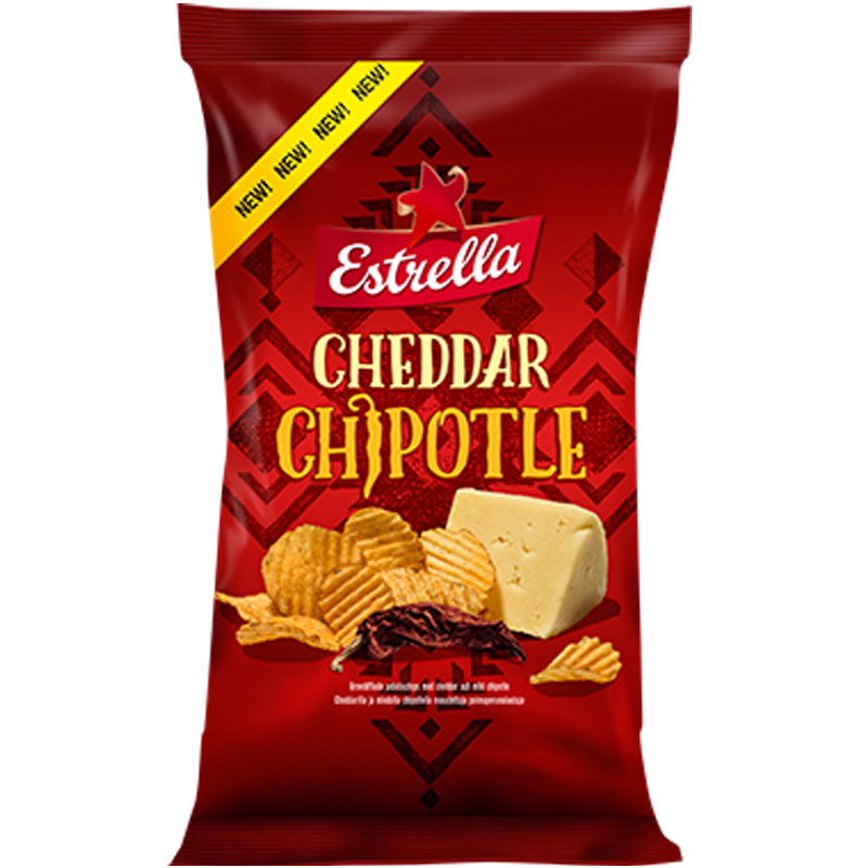 Chips Cheddar & Chipotle 175g - 15% rabatt