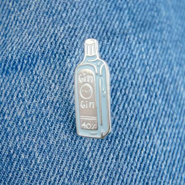 Gin Enamel Pin