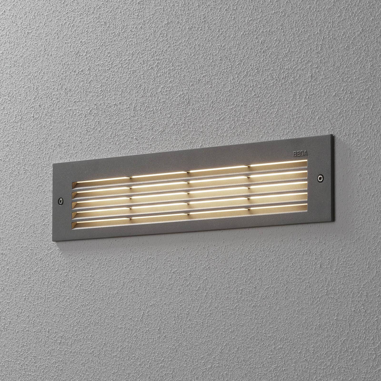 BEGA 33019 LED-seinäuppovalo 3000K hopea 32 cm