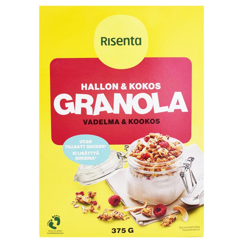 Granola Hallon & Kokos 375g - 27% rabatt