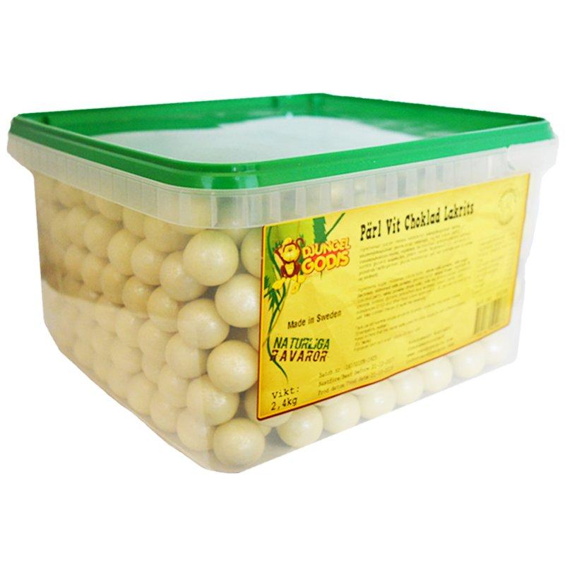Hel Låda Godis Vit Choklad & Lakrits 2,4kg - 47% rabatt