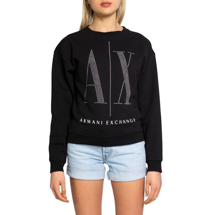 Armani Exchange Women's Sweatshirt Black 198477 - black XS