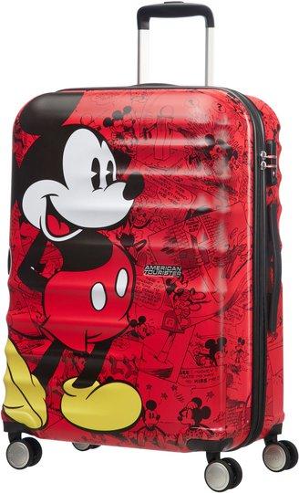 American Tourister Disney Mikke Mus Trillekoffert, Rød, 64L