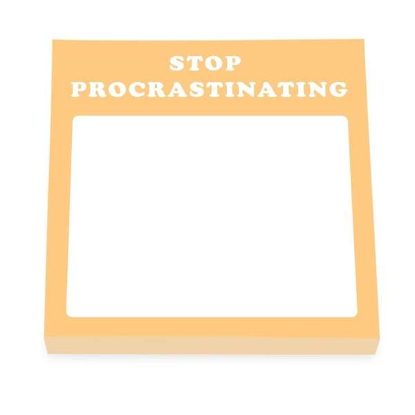 Stop Procrastinating Sticky Notes