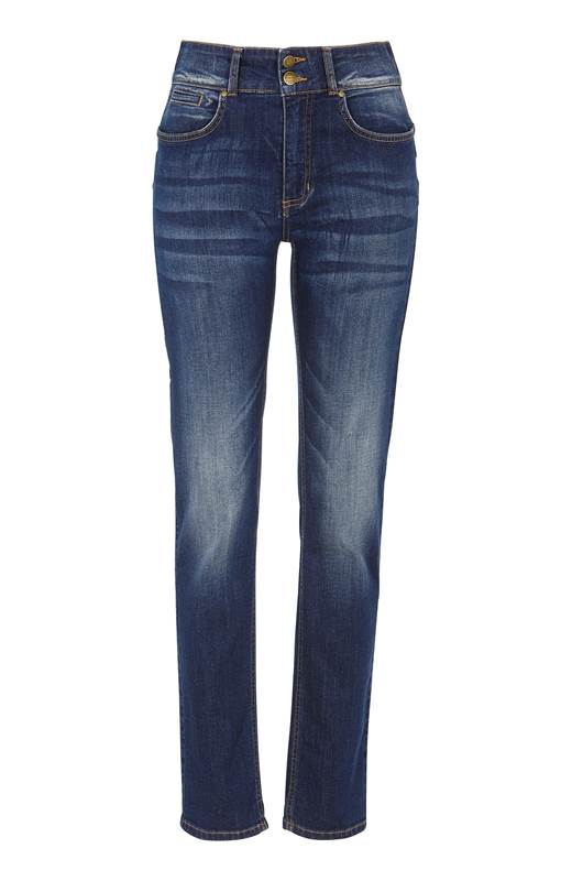 Cellbes Rak push up jeans Selena Mörkblå