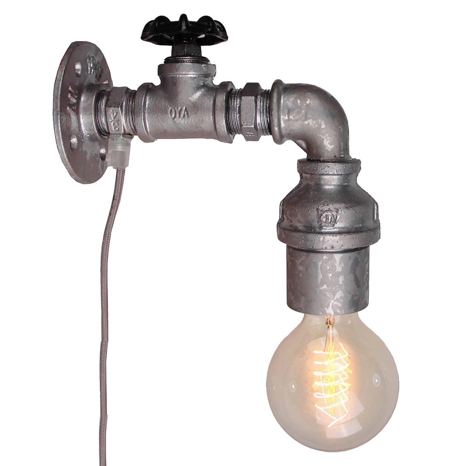 Vegglampe Pipe med bryter