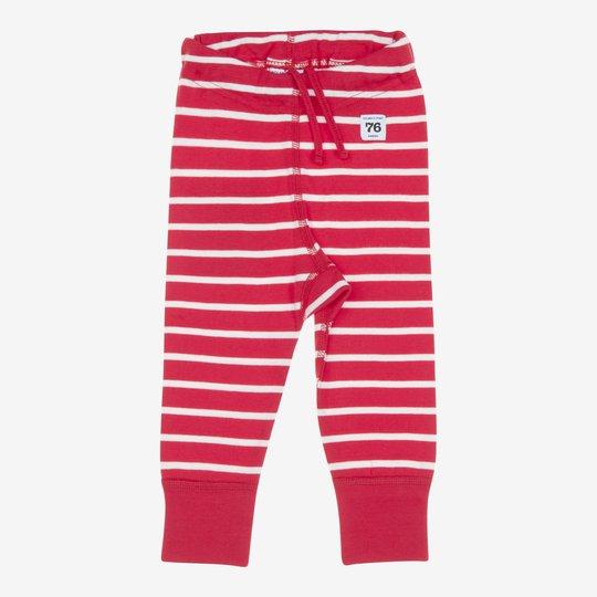 Stillongs stripet nyfødt rød