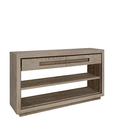 HUNTER console w/2 drawers antique grey oak