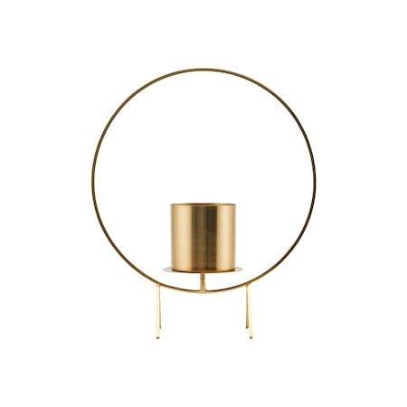 Stearinlysholder Circle Brass 40 cm