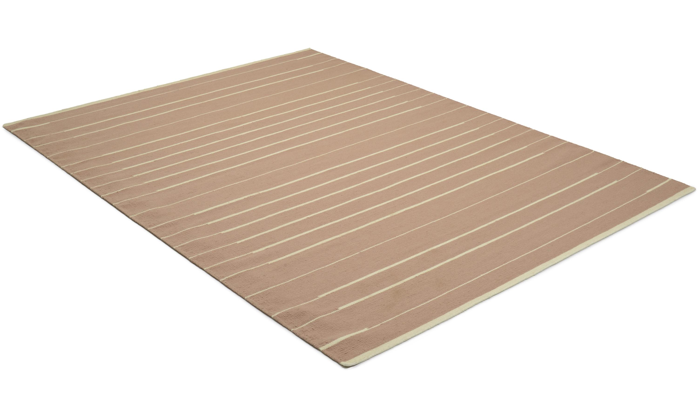 Piano rose Linie Design - håndvevd ullteppe