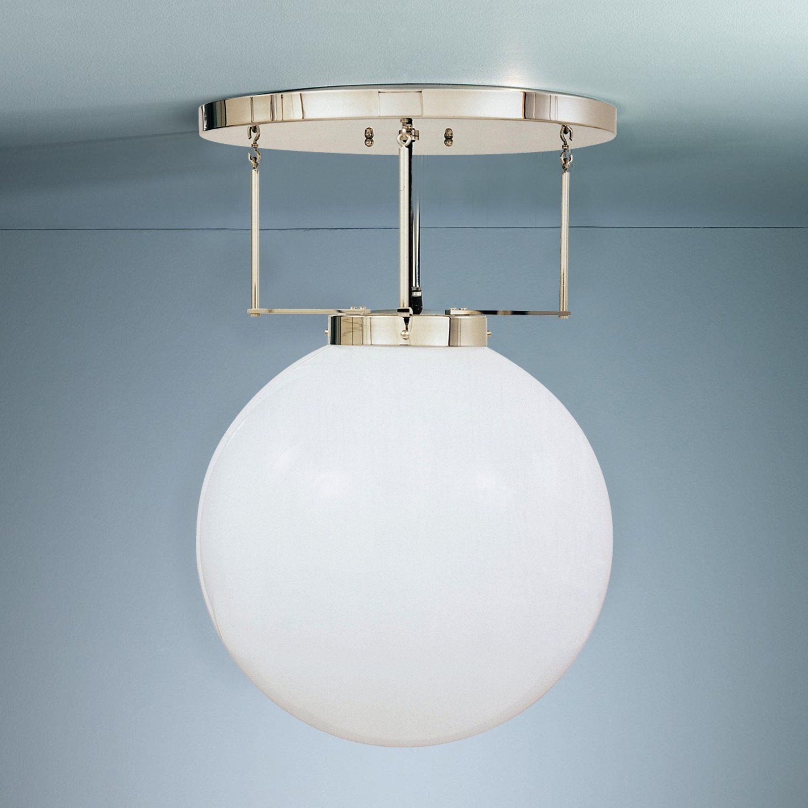 Taklampe i messing i Bauhaus-stil 40 cm