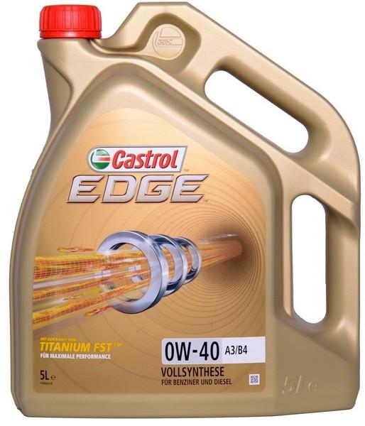 Moottoriöljy CASTROL 0W40 EDGE TITANIUM FST C3 5L