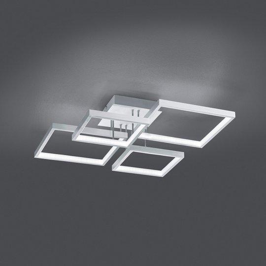 LED-taklampe Sorrento 52x52cm, alu børstet