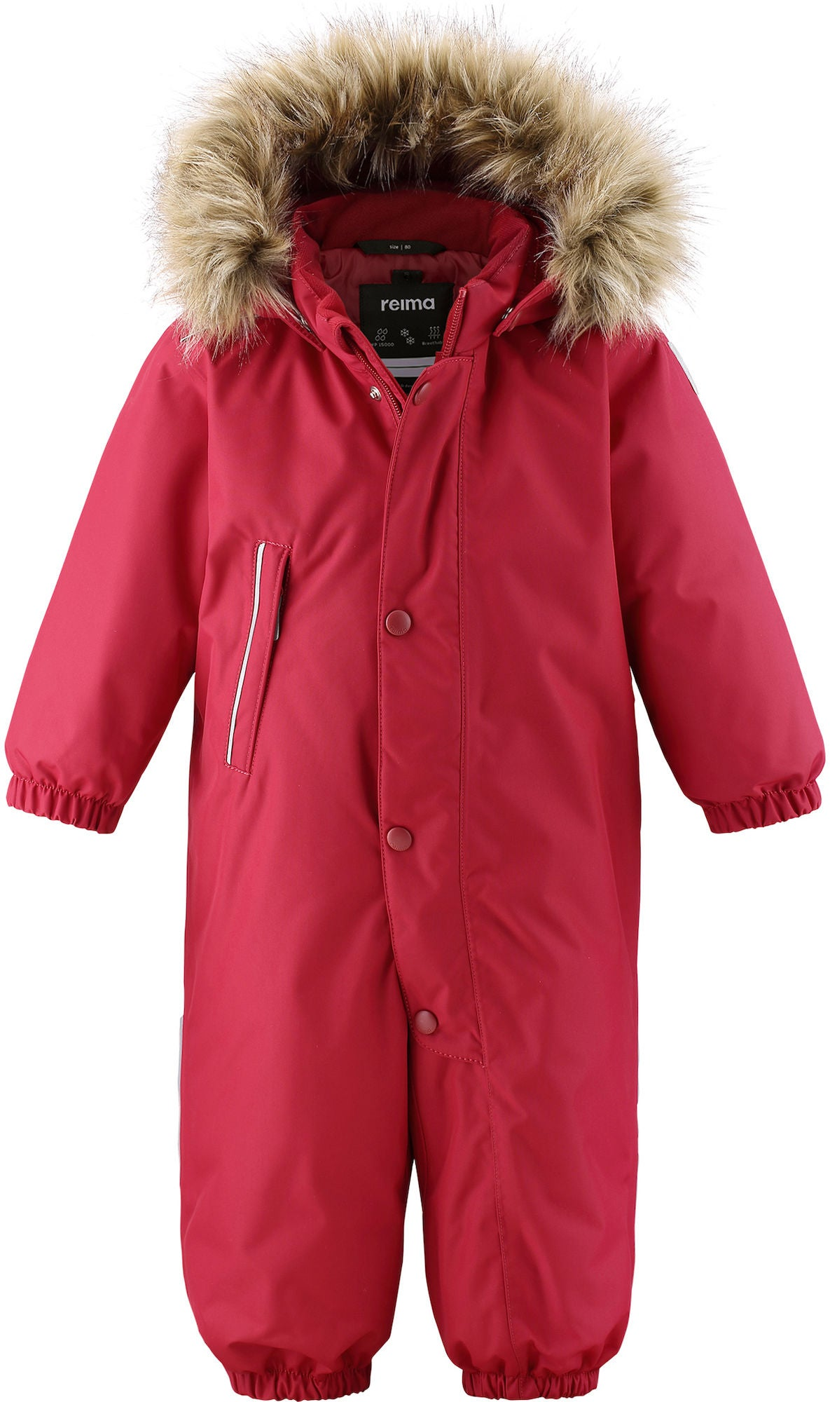 Reimatec Gotland Overall, Lingonberry Red, 74