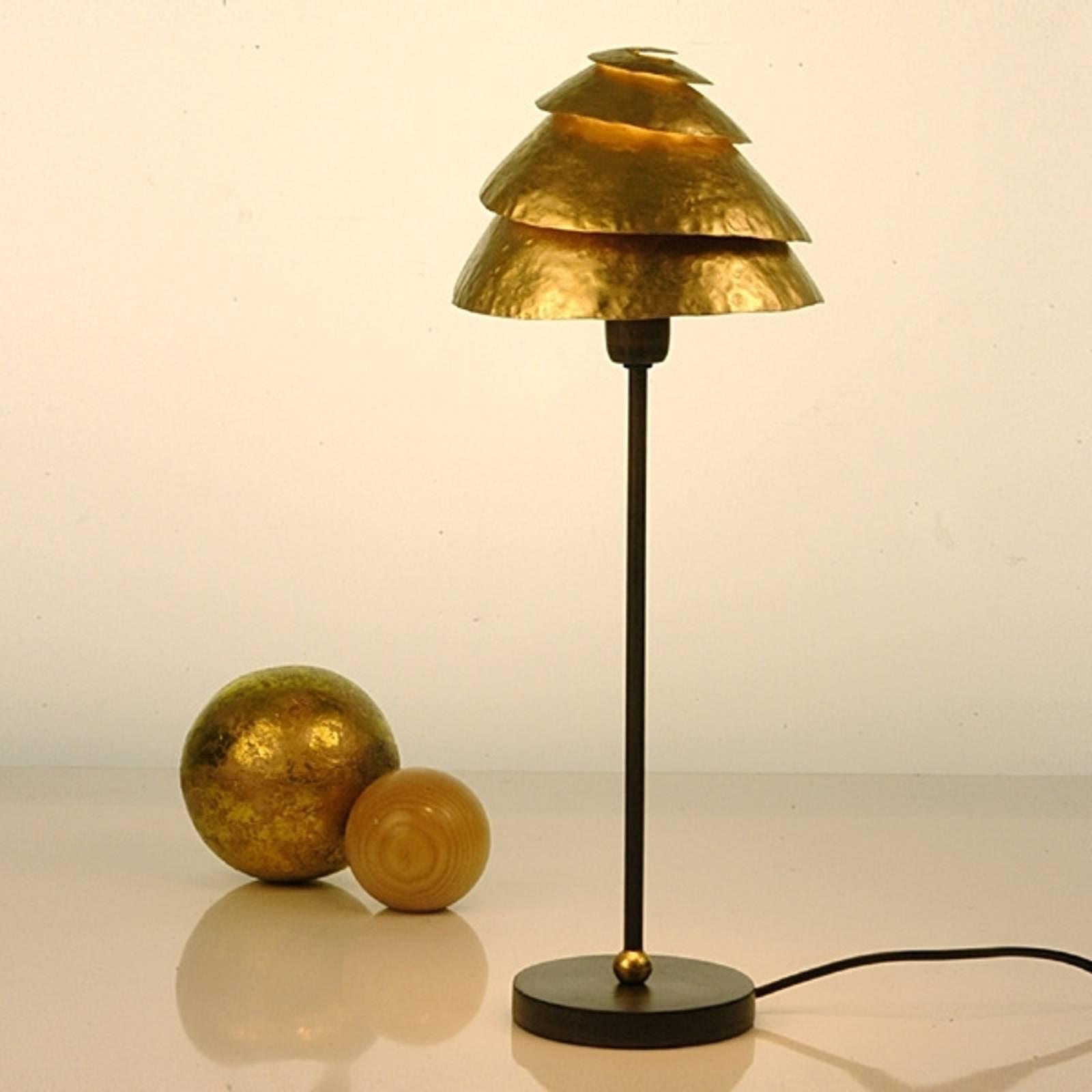 Effektfull SNAIL ONE bordlampe, brun gull