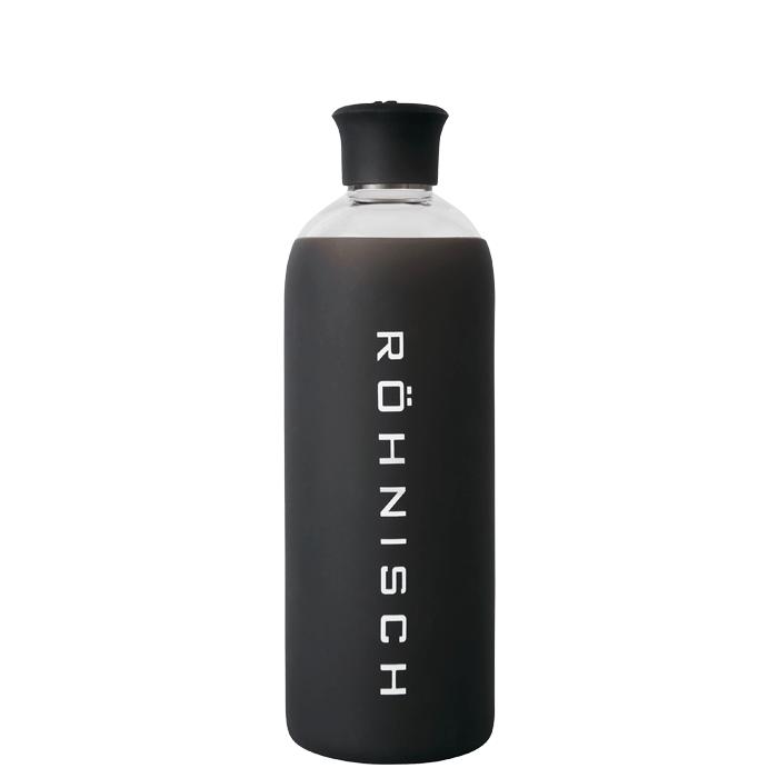 Glass Water Bottle, Black