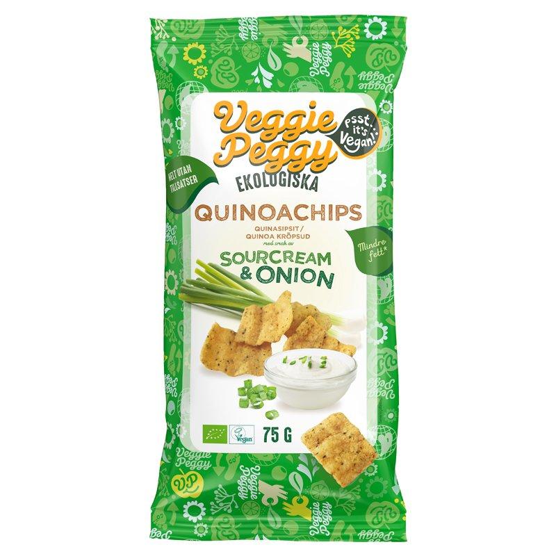 Luomu Kvinoasipsit Sourcream & Onion - 20% alennus