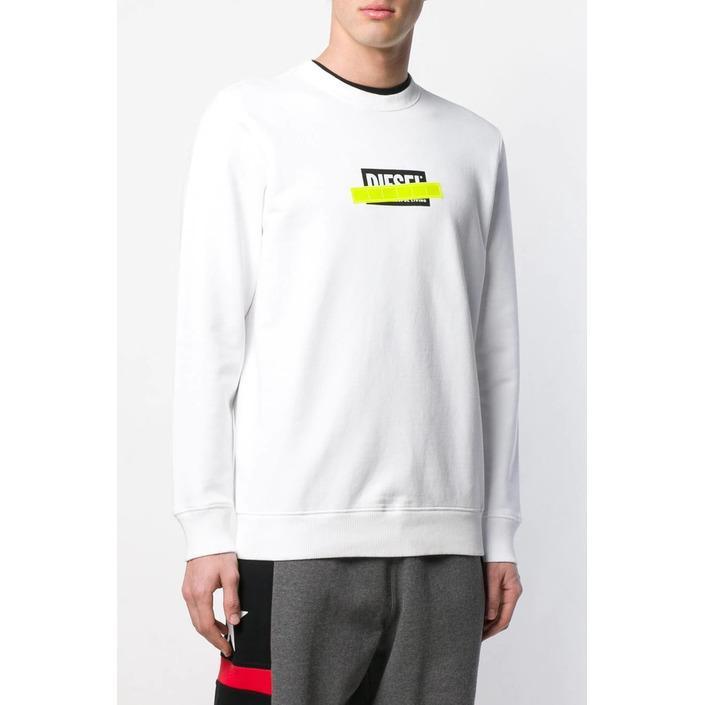 Diesel Men's Sweatshirt White 293904 - white M