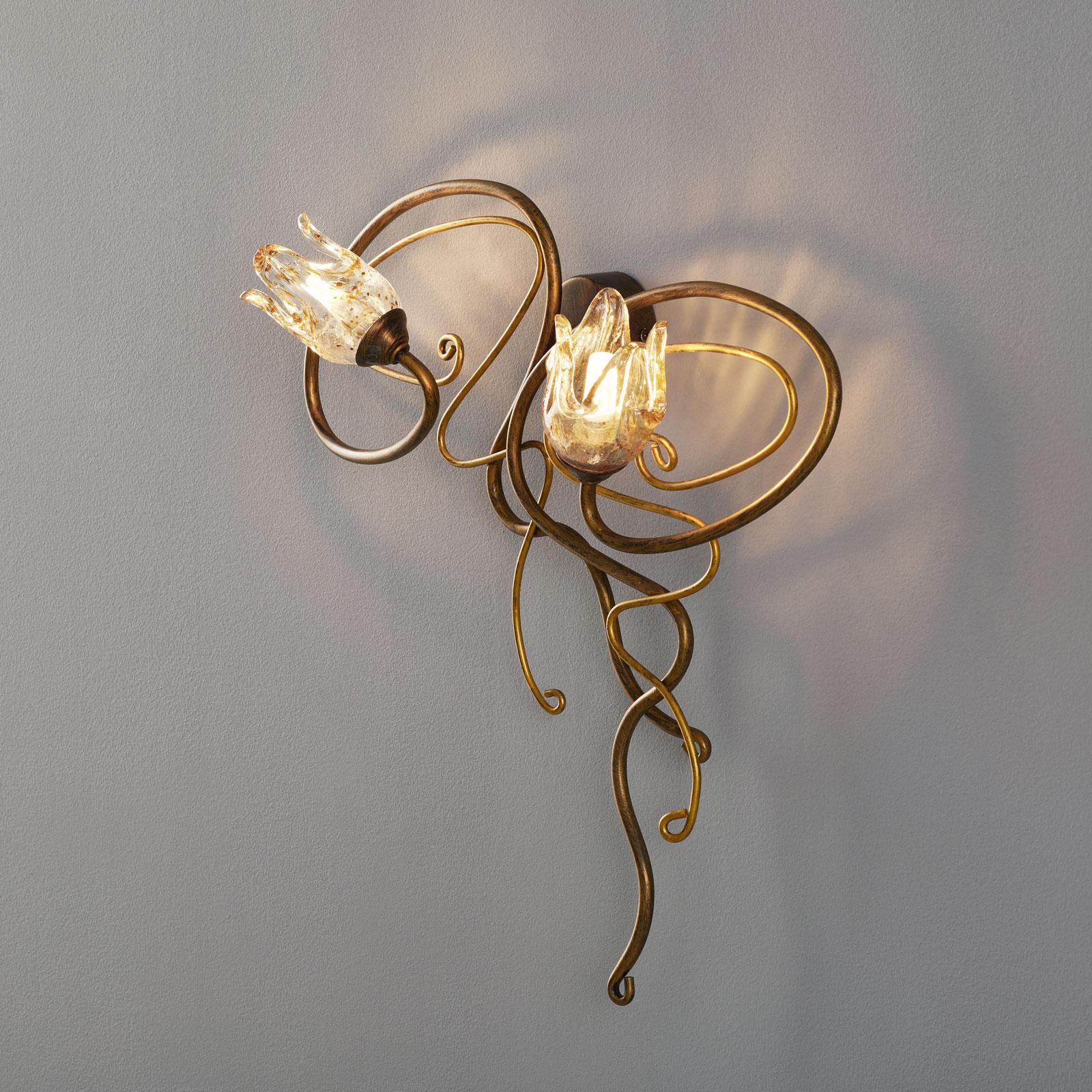 Edle 2-lamppuinen Seinävalaisin MONIQUE
