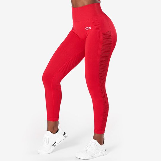 Dynamic Seamless 7/8 Tights, Deep Red