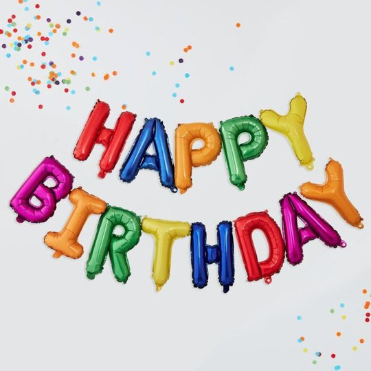 Ginger Ray Ballongkrans, Happy Birthday