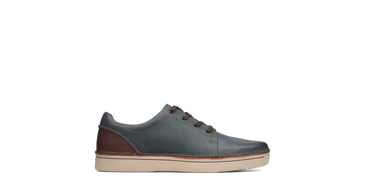 Clarks Men's Kitna Stride Leather Shoes Slate 5050409477793 - 8 UK Slate