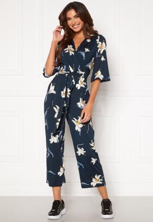 Happy Holly Simone kimono sleeve jumpsuit Dark blue / Patterned 52/54