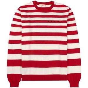 Marni Branded Striped Knit Tröja Röd 4 år