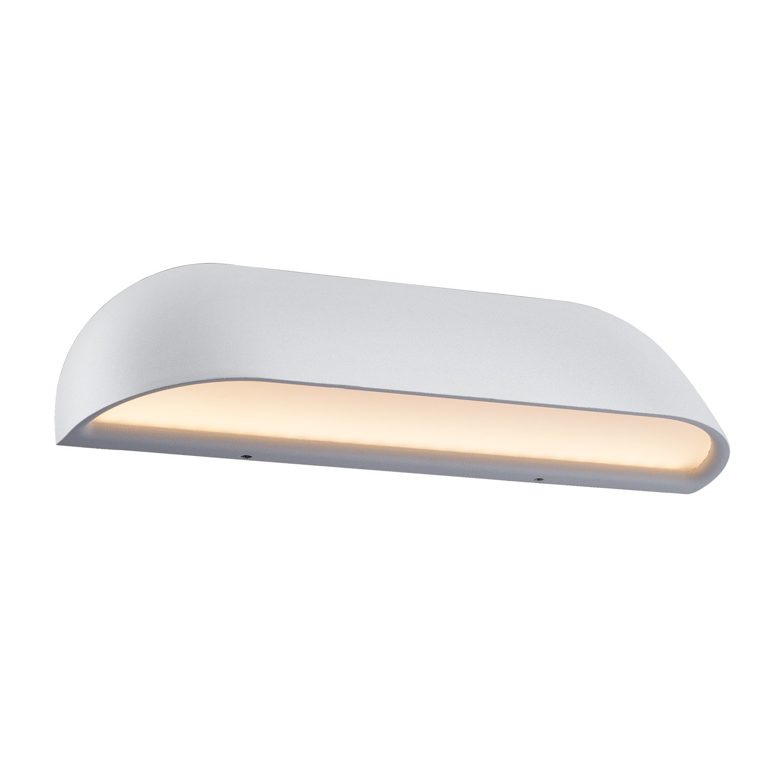 Utendørs LED-vegglampe Front 26, hvit