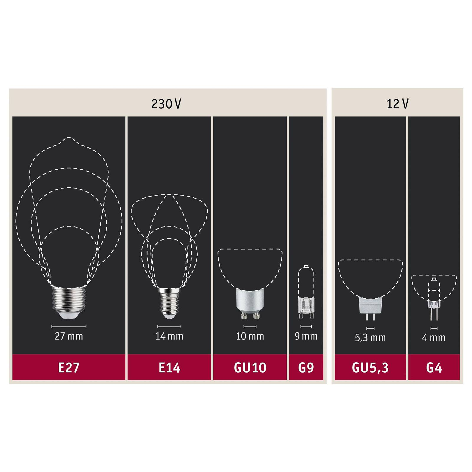 Paulmann-LED-lamppu E27 Filament sininen 2,2W