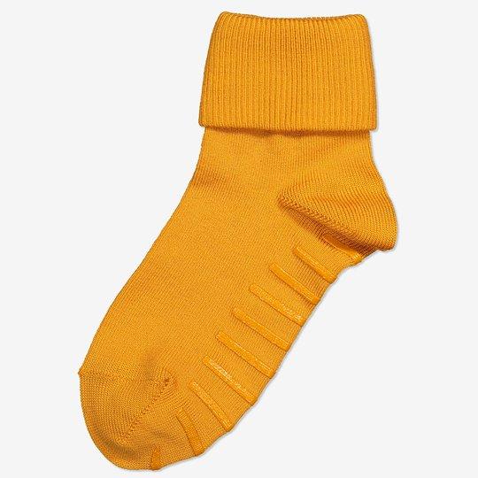 Merinoull sokker med sklisikring gul