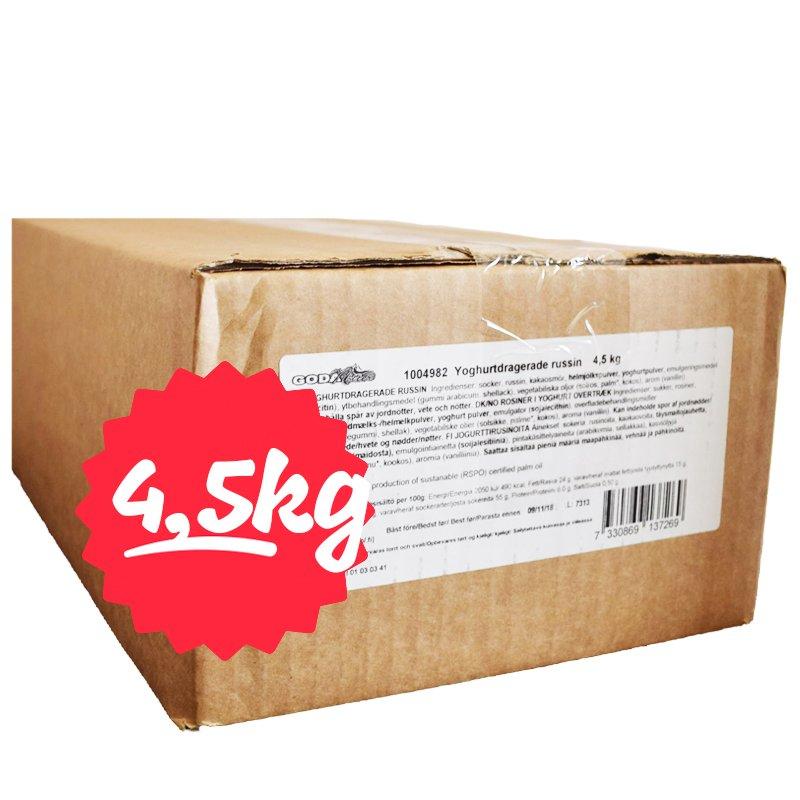 Hel Låda Russin Yoghurtdragerade 4,5kg - 78% rabatt