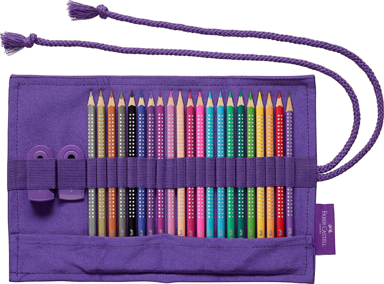 Faber-Castell - Sparkle colour pencil roll, 20 colours (201738)