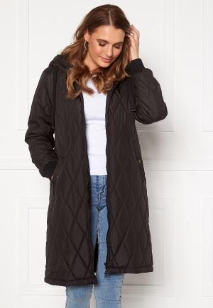 Happy Holly Melanie quilted hood jacket Black 52/54