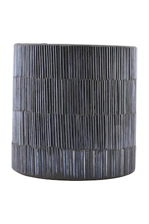 Ljuslykta Pipe Ø 10x10 cm Svart/grå